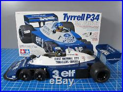 Tamiya 1/10 R/C Tyrrell P34 F-1 Six Wheeler # 49154 Futaba MC230CR ESC Battery
