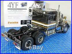 Tamiya 1/14 Metallic Chrome Edition King Hauler 2.4 Futaba +MFC-01 Unit +Upgrade