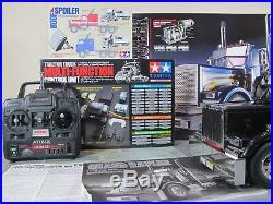 Tamiya 1/14 R/C Grand Hauler Matte Black +Futaba +MFC-01 LED & Sound Unit +Extra