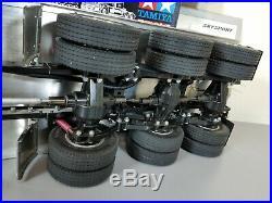 Tamiya Custom Built 3-Axle Flatbed 1/14 Knight Hauler MFC-01 Sound Light Futaba