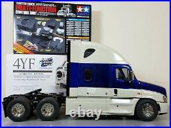 Tamiya RC 1/14 Cascadia Freightliner Truck +MFC-01 Sound LED Unit +Futaba 2.4Ghz
