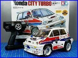Tamiya R/C 1/10 Honda City Turbo WR02 Chassis with Futaba 2.4GHz +ESC +LED Light