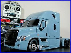 Tamiya R/C 1/14 Cascadia Freightliner Semi Truck + MFC-01 Unit Futaba + Hop Up