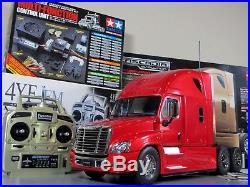 Tamiya R/C 1/14 Cascadia Freightliner Truck +MFC-01 LED Sound Unit +Futaba 4YF