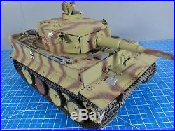 Tamiya R/C 1/16 Tiger 1 Tank Full Option Sound Fire +DMD T-03 +MF-01 +Futaba