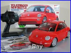 Tamiya R/C FF 1/10 Volkswagen Beetle with Expec Transmitter Futaba ESC Servo Box