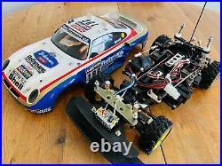 Tamiya porsche 959 Rothmans 1986 Paris Dakar New Build Futaba Spares Or Repair
