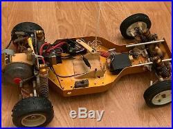 Team Associated RC10 A Stamp Buggy Vintage Futaba Radio Gold Tub Speed Control