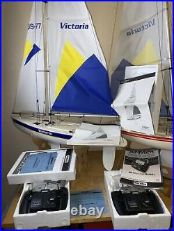 Thunder Tiger Victoria Radio Control Sailing Yacht Sailboat Sail Boat Futaba 2ER