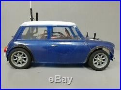 Use Tamiya 1/10 RC Rover Mini Cooper Racing FF M-03 Chassis +Futaba +ESC+Battery
