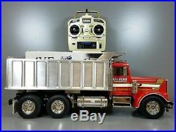 Used Custom Convert Tamiya 1/14 R/C King Hauler Semi Dump Truck Futaba ESC Servo