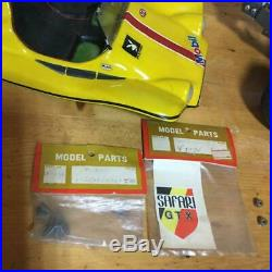 Used FUTABA Industry SAFARI Engine Buggy GTX 1/8 Scale Model Yellow Color