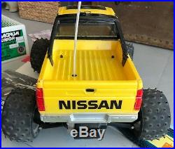 VINTAGE RC Tamiya Nissan King Cab BUNDLE Radio, Futaba, Tekin, Protech Charger