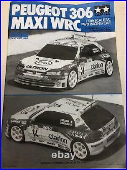 Very Rare FWD Tamiya 1/10 RC Peugeot 306 Maxi WRC #58224 Rally Car Futaba