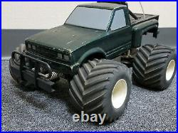Vintage 1/10 Marui BIG BEAR Datsun RC Truck Futaba Servo Crack Tire for Parts