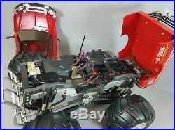Vintage 1/10 RC Tamiya Juggernaut 2 Ford F-350 with Futaba 2.4GHz Airtronics Servo