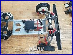 Vintage AYK Buffalo Bobcat RC Car Buggy Aluminum Chassis Rc10 Futaba