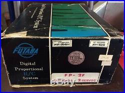 Vintage Futaba 2 Channel Radio FP-2F Complete box wheel system RC racing history