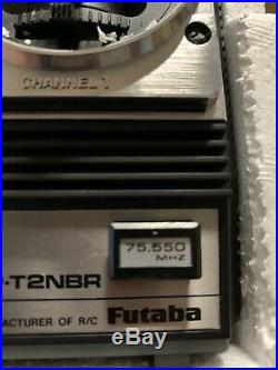 Vintage Futaba Attack-R 2NBR 75MHz Radio Set With Servos R/C NIB