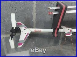Vintage Hirobo Shuttle ZX R/C Helicopter Nitro Engine Futaba FP-T5NH Controller