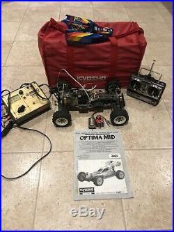 Vintage Kyosho Optima Mid with Race Bag and Futaba Radio Bundle