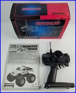 Vintage Kyosho USA-1 Monster Truck RC 1/10 scale Manual & Futaba Radio Untested