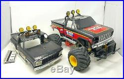 Vintage TAMIYA BLACKFOOT 2WD RC Truck LeMans 240ST Motor Futaba Spped Control