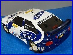 Vintage Tamiya 1/ 10 R/C WRC Ford Escort Rally Car Cosworth + Futaba ESC Servo
