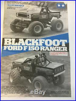 Vintage Tamiya Blackfoot Model 5858 1986 Release With Original Futaba Controller