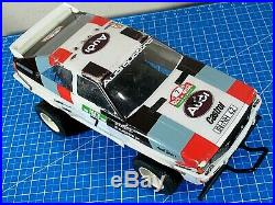 Vintage original Tamiya 1/10 RC Audi Quattro Rally Willy Futaba Restore Project
